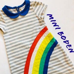 Mini Boden 7/8 yr girl rainbow 🌈 dress